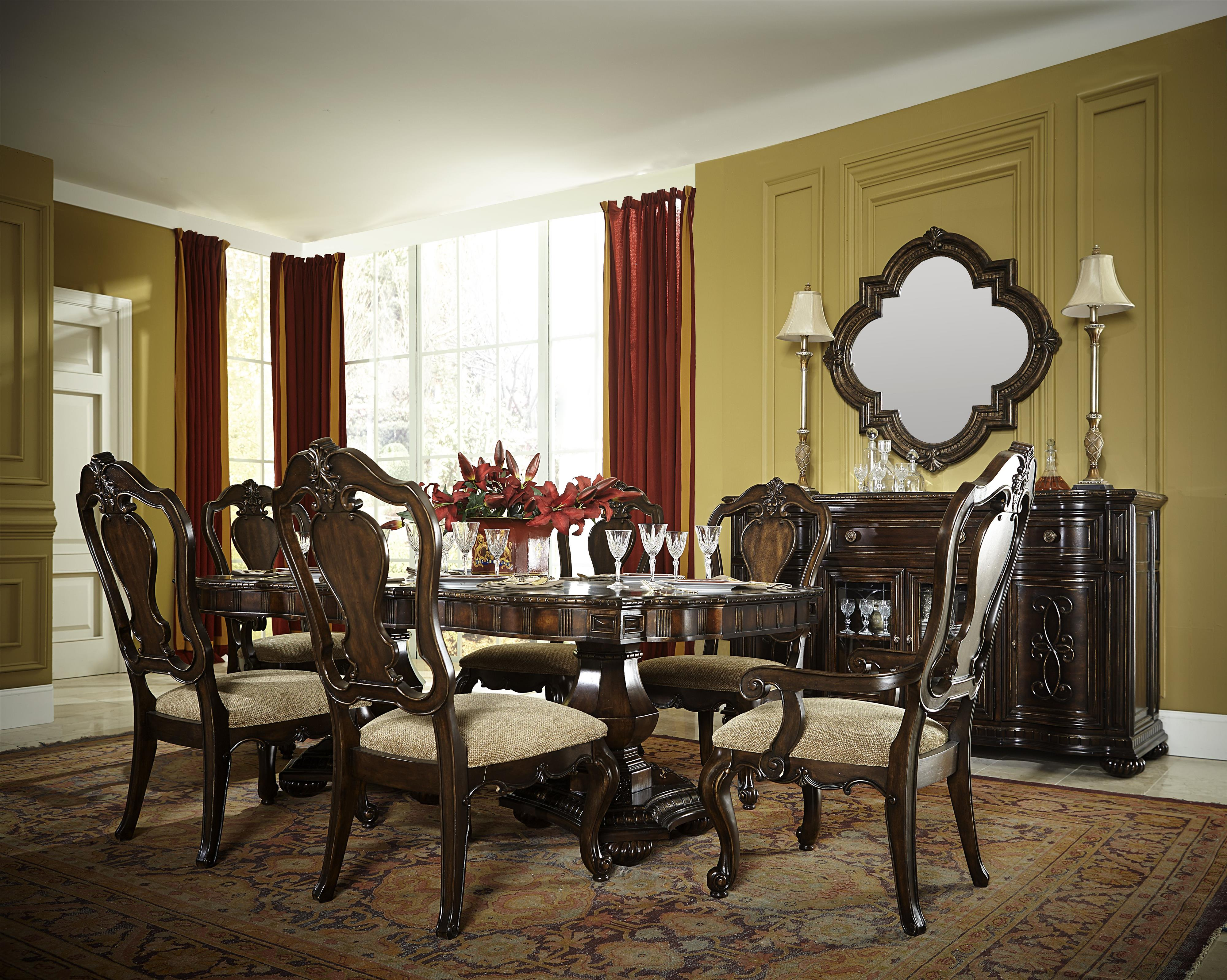 7 Piece Dining Set with Splat Back Chairs by Legacy Classic | Wolf ...