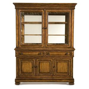 China Cabinet with Seeded Glass Doors