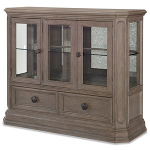 Relaxed Vintage Display Cabinet with Antique Mirror Back and LED Lighting