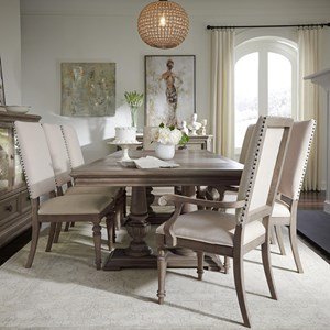 Relaxed Vintage Nine Piece Dining Set