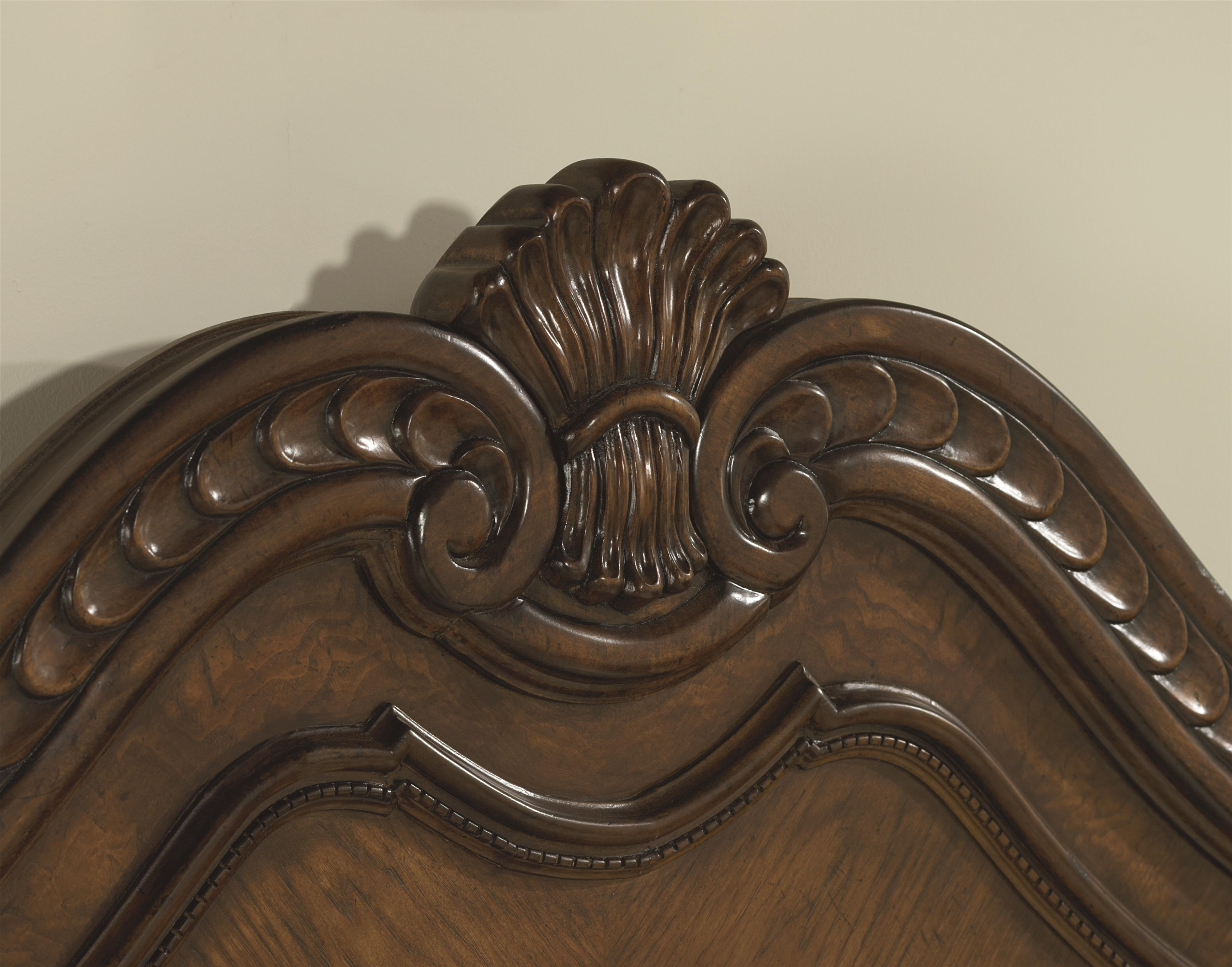 Queen Panel Bed & Queen Panel Bed with Wood Carved Details by Legacy Classic | Wolf ... pillowsntoast.com