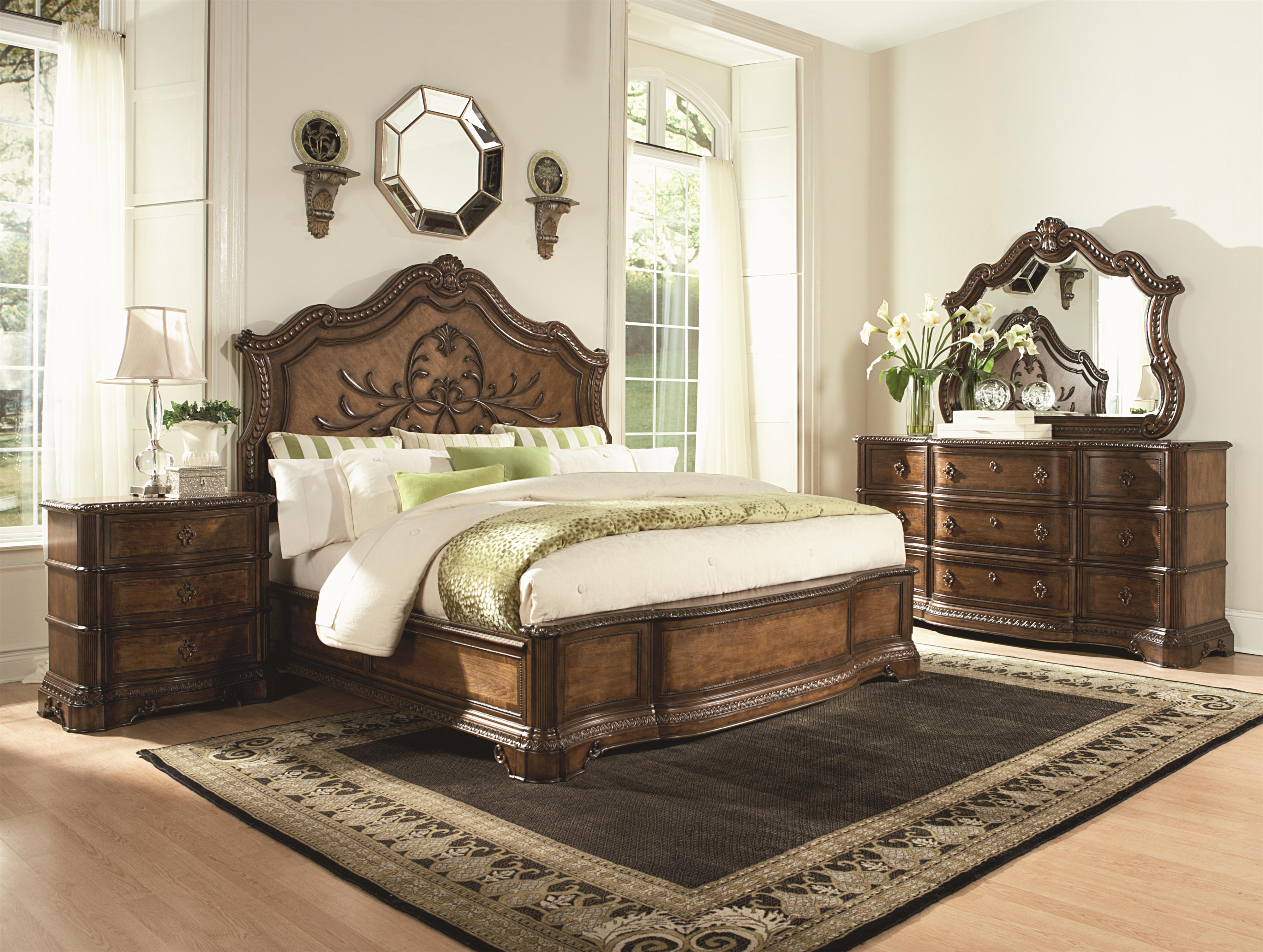 california king panel bed with wood carved details by legacy california king panel bed