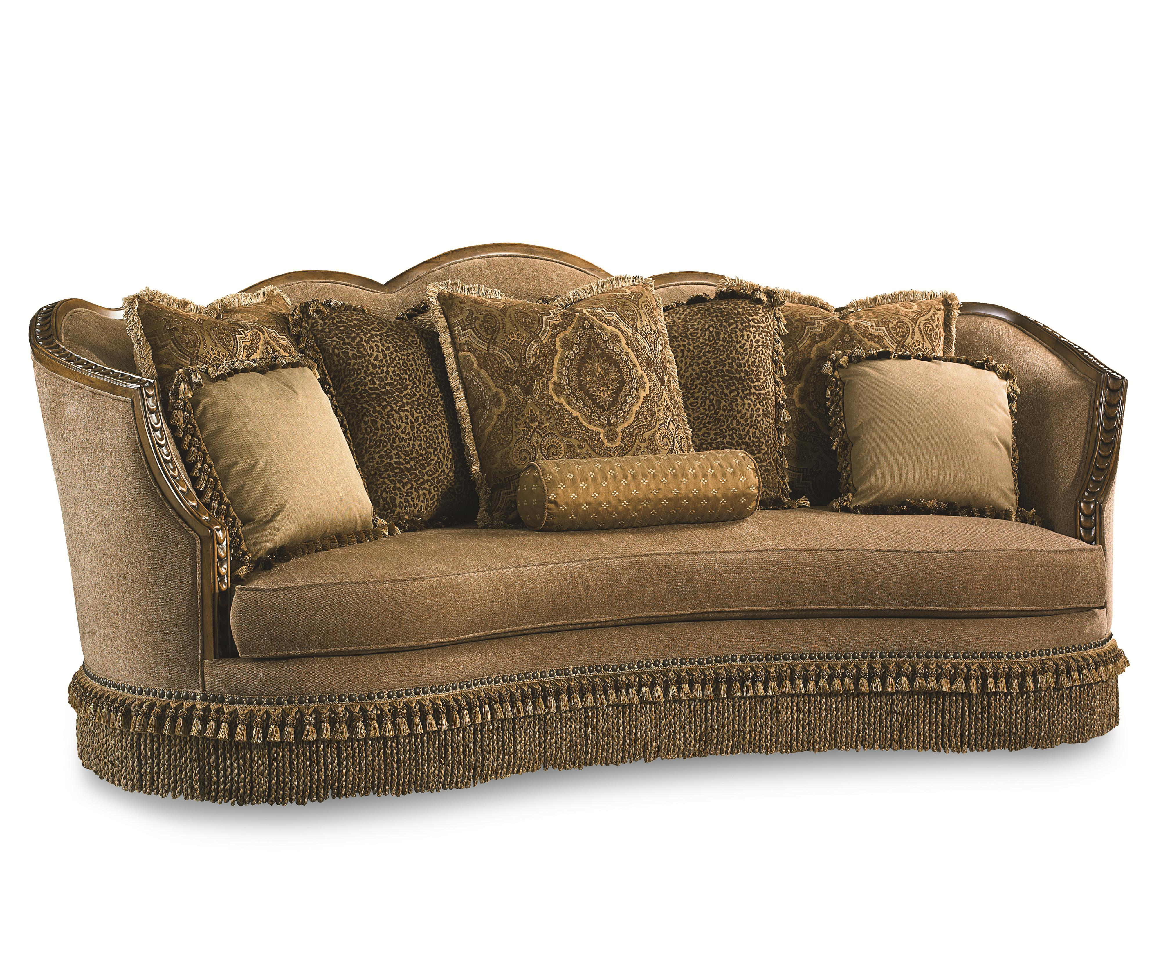 Sofa With Nailhead Trim And Exposed Wood Trim
