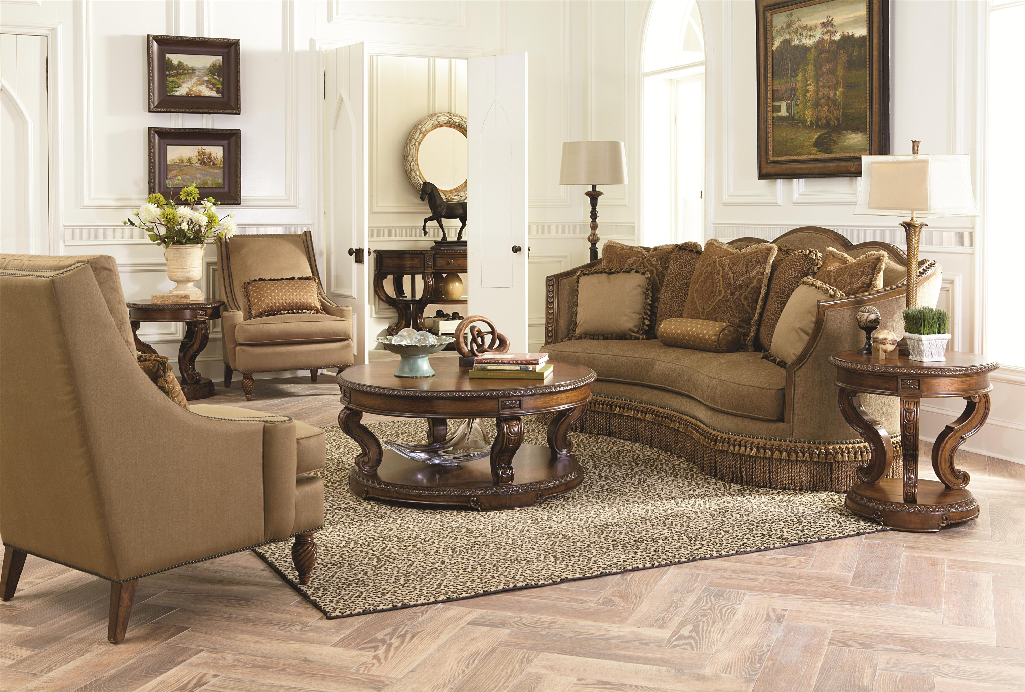 Sofa with Nailhead Trim and Exposed Wood Trim by Legacy Classic