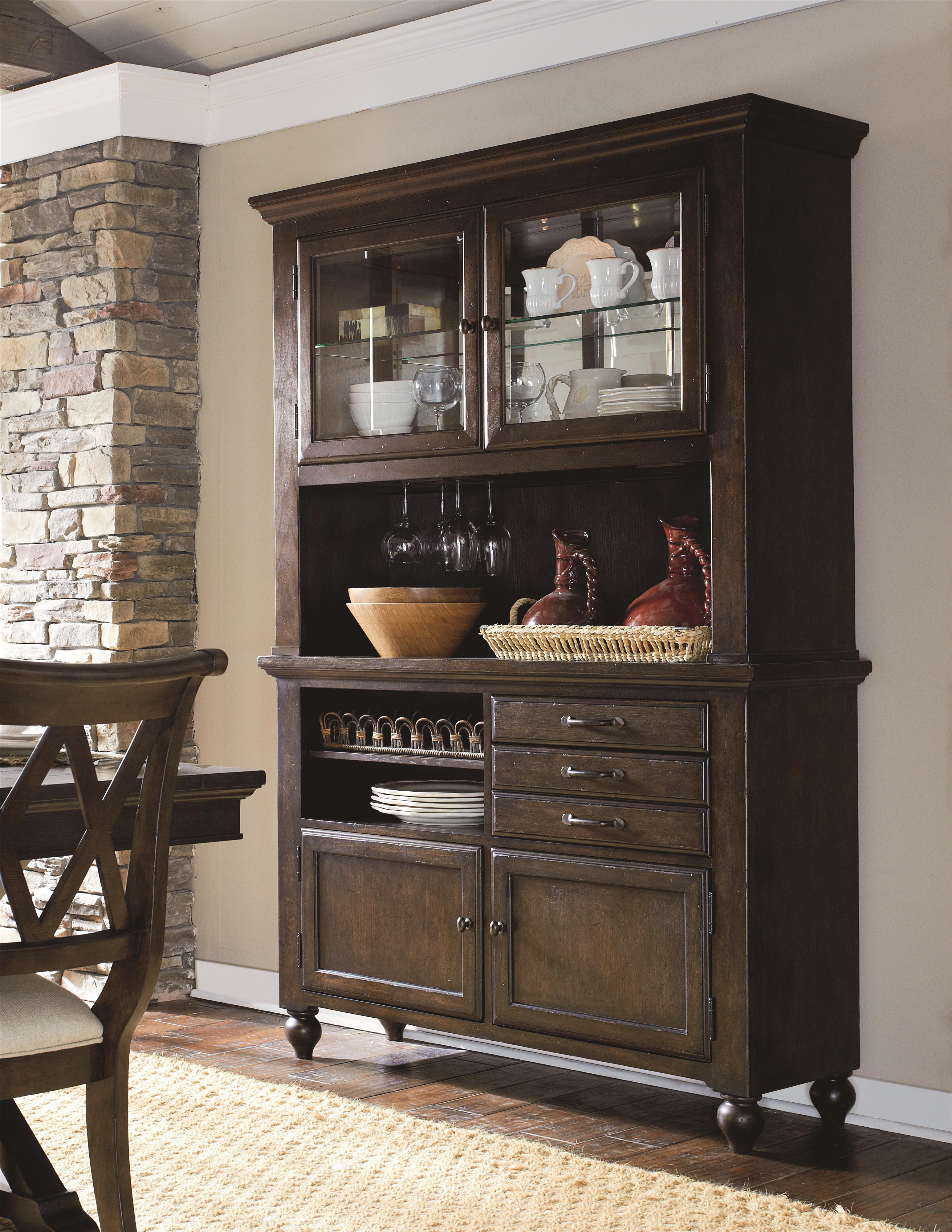 Complete China Cabinet with Mirrored Back and Wine Storage by ...