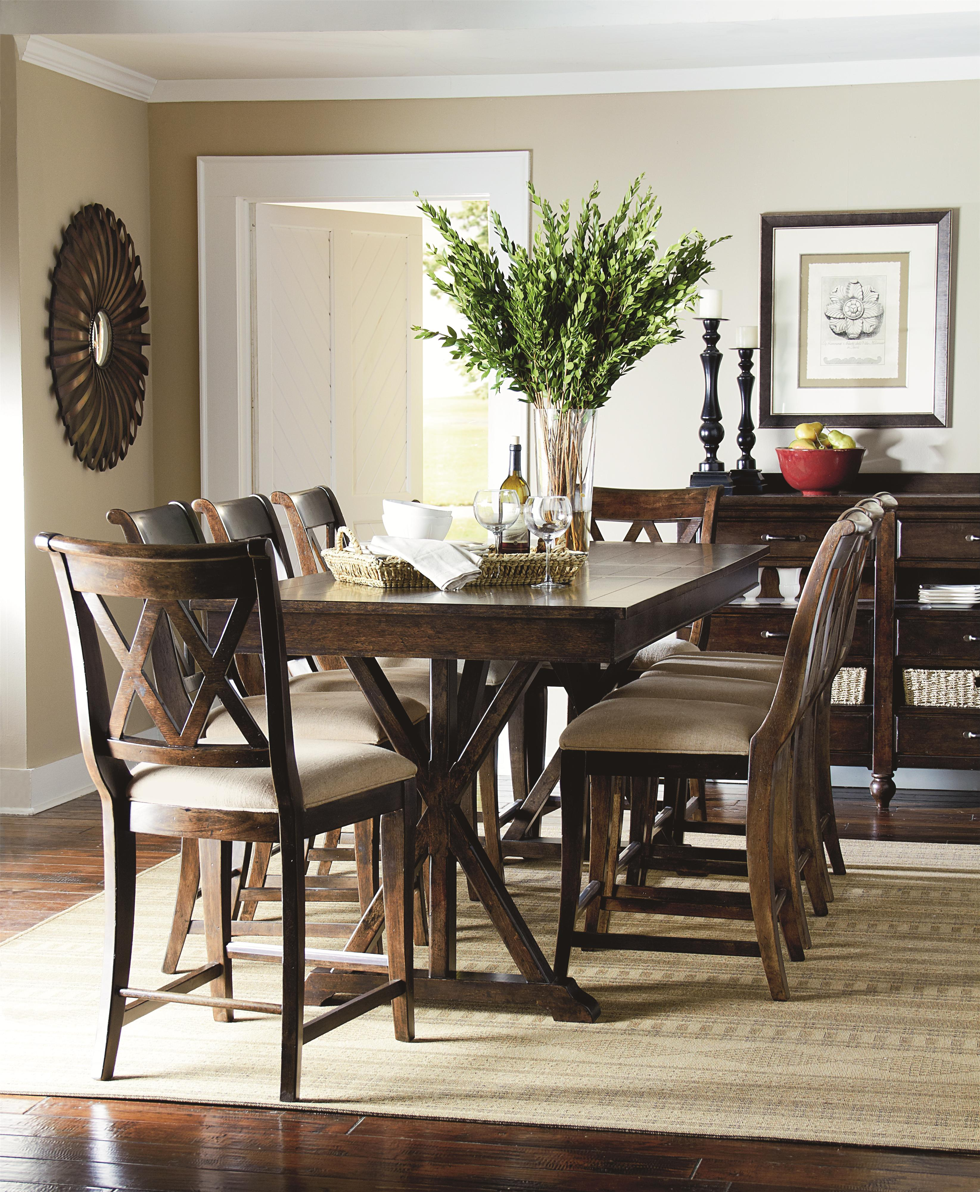 fascinating 9 piece counter height dining room sets gallery 3d pub table with trestle shape by legacy classic wolf and gardiner