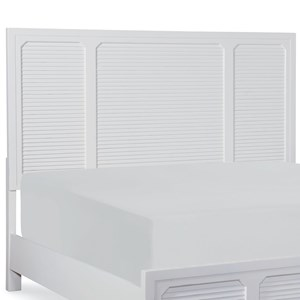 Transitional Queen Panel Headboard with Shutter Panels