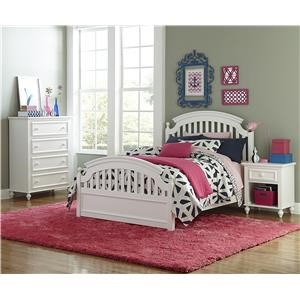 Twin Panel Bed with Slat Detail