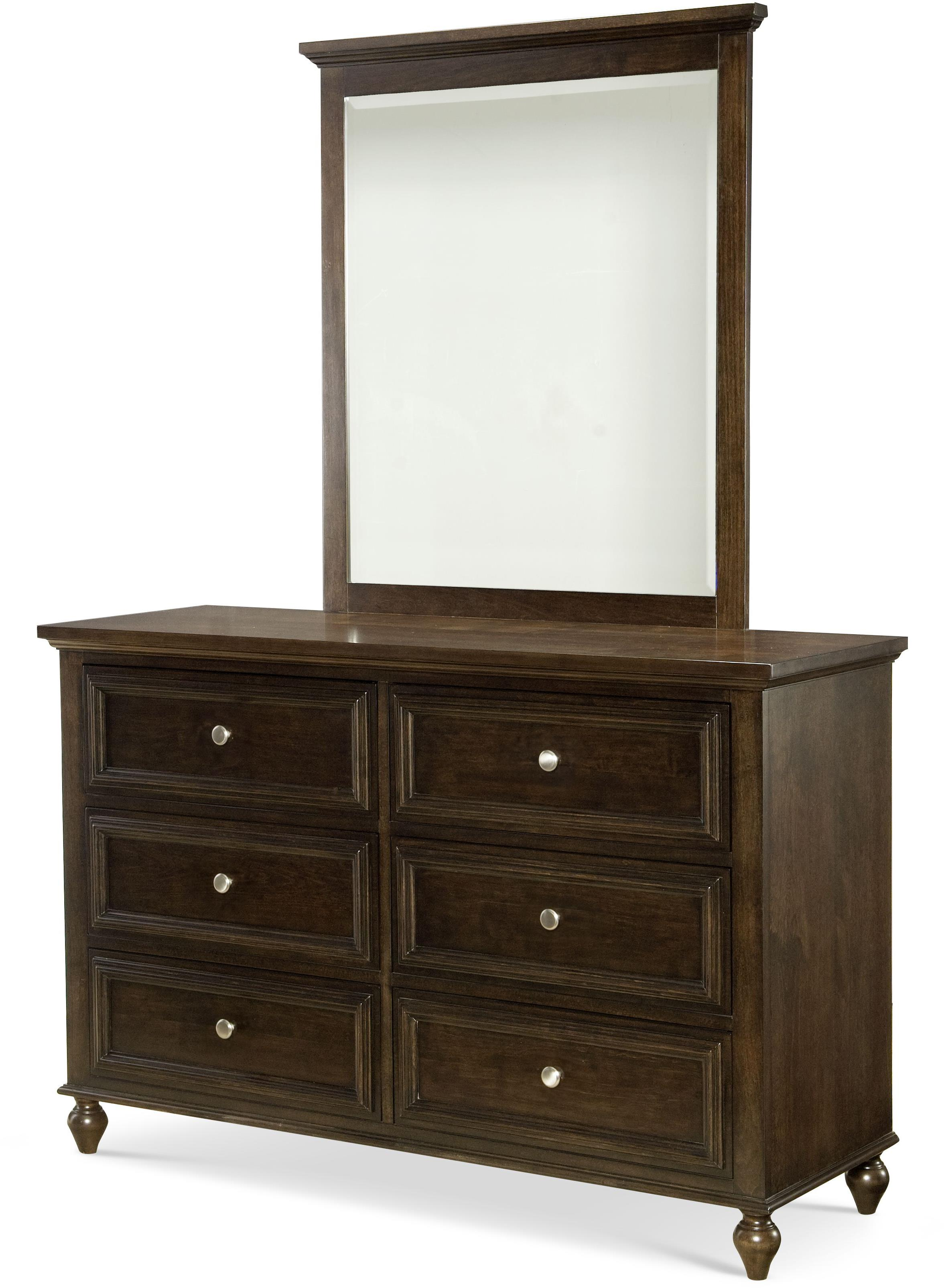 6 drawer dresser and mirror set by legacy classic kids wolf and gardiner wolf furniture. Black Bedroom Furniture Sets. Home Design Ideas