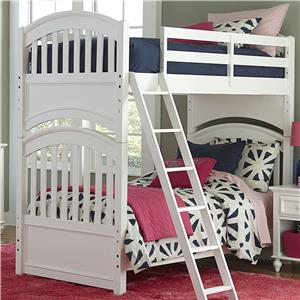 Twin over Twin Bunk Bed with Arched Ends
