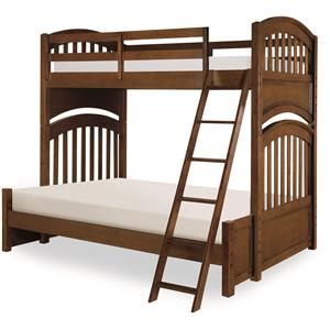 Twin over Full Bunk Bed with Arched Ends