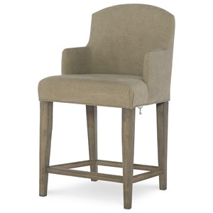 Slip Cover Arm Chair with Laced Back