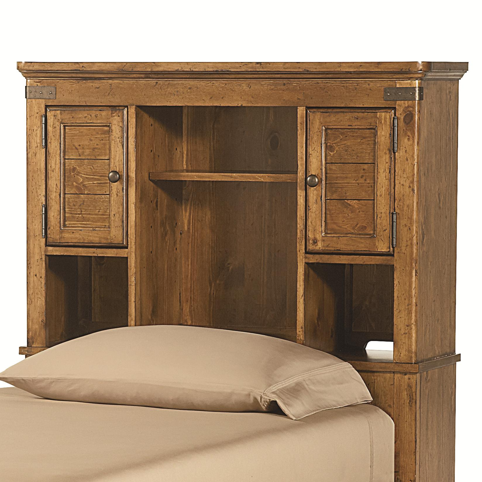 twin bookcase headboard with shelves and doors by legacy classic