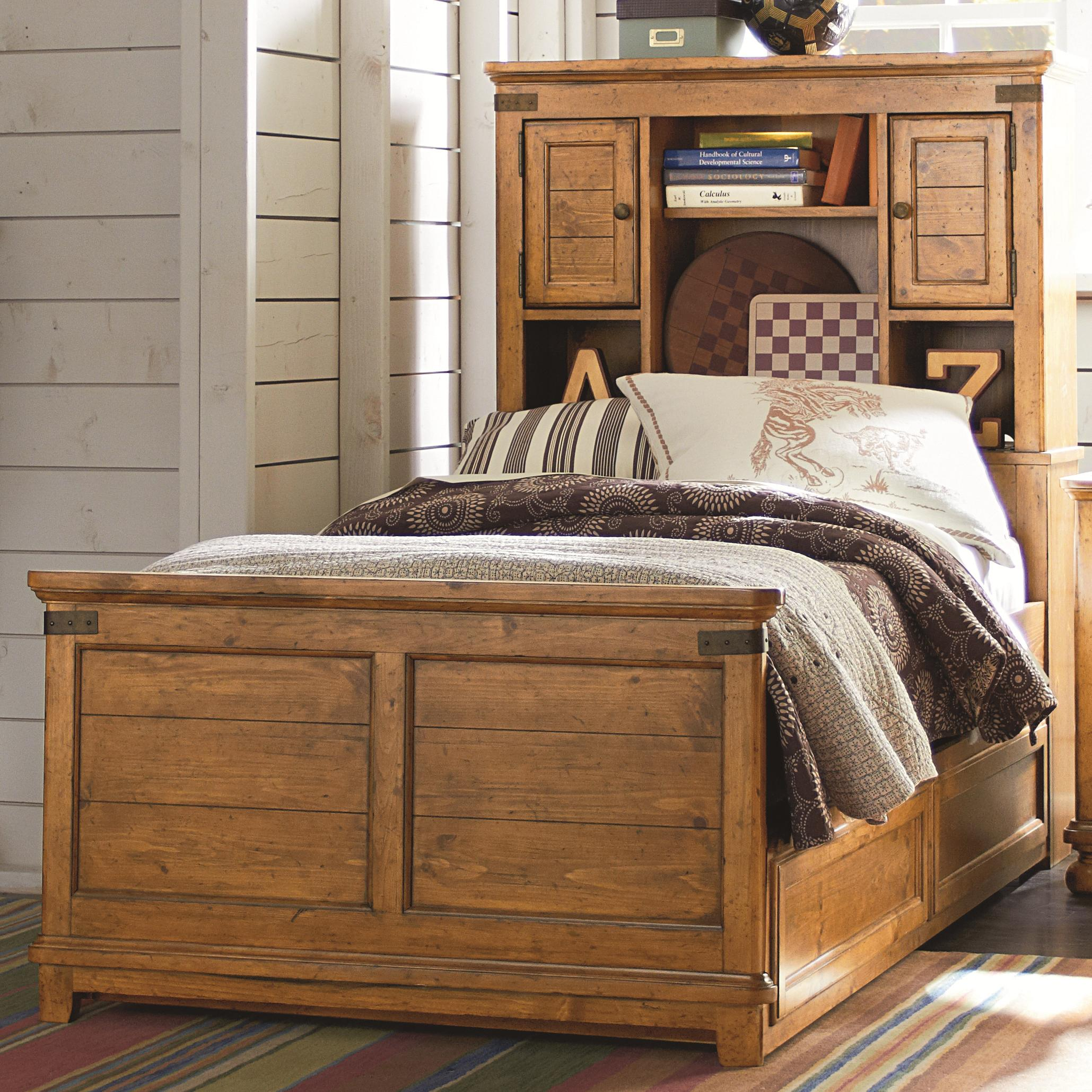 Twin Bed With Under Bed Part - 19: Twin Bookcase Bed With Underbed Trundle Or Storage Drawer Unit