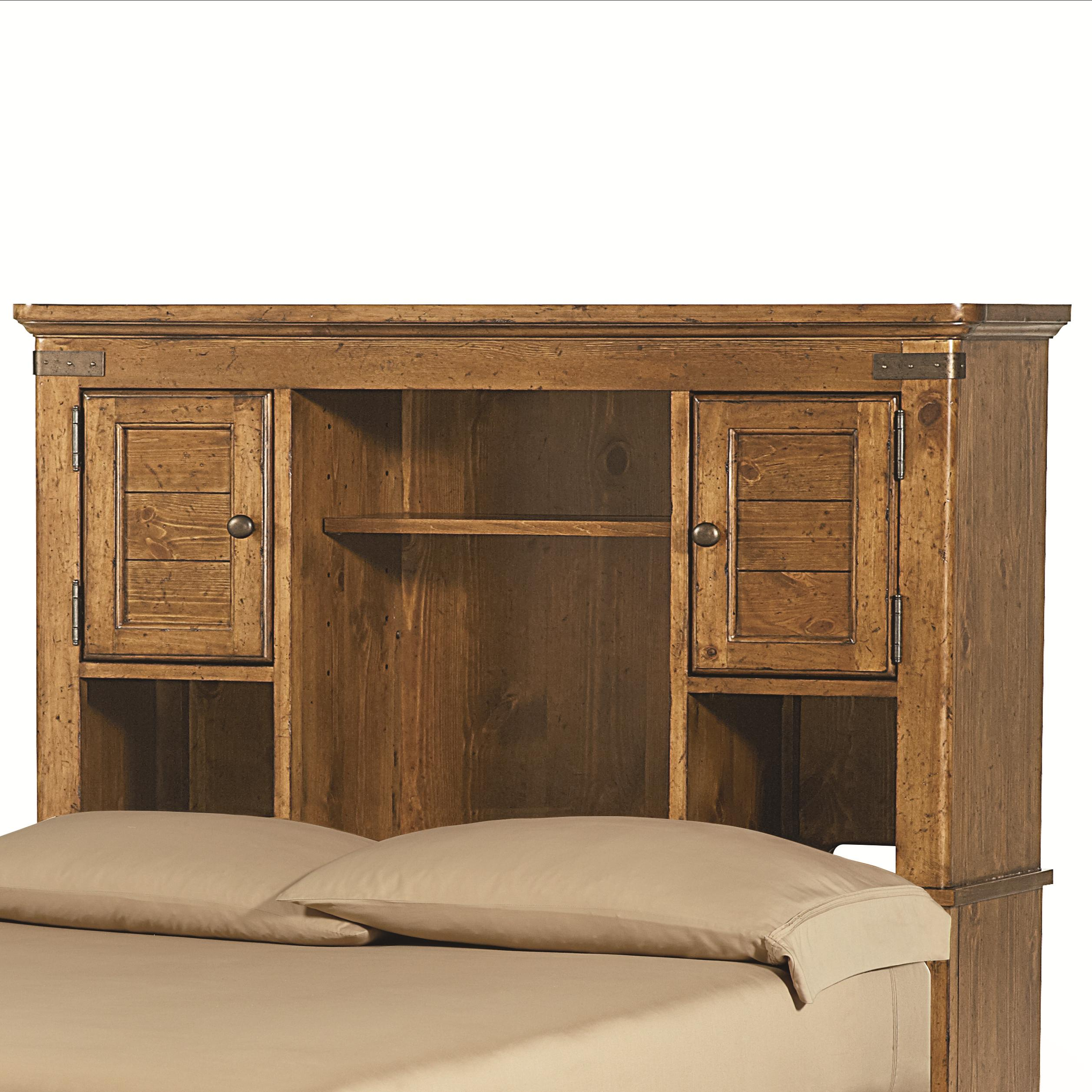 full bookcase headboard with shelves and doors by legacy classic