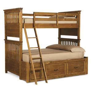Legacy Classic Kids Bryce Canyon Twin Over Full Bunk Bed with Storage