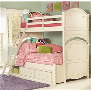 Twin Over Full Bunk Bed with Underbed Storage Unit