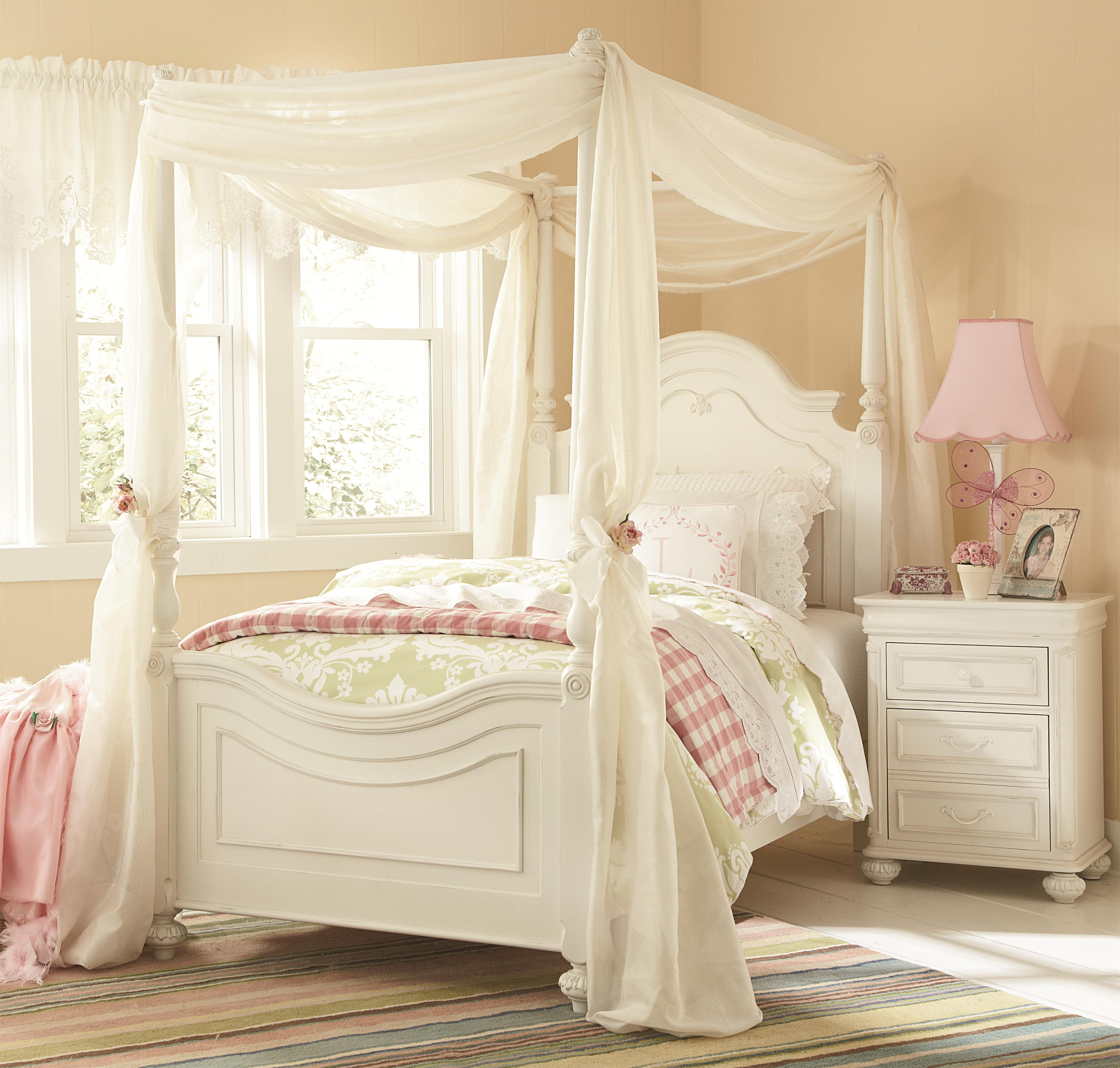 Twin Low Poster Bed with Canopy Frame & Twin Low Poster Bed with Canopy Frame by Legacy Classic Kids ...