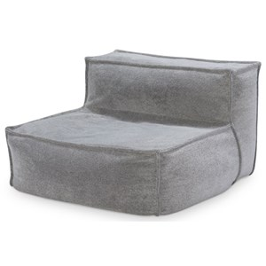 Contemporary Upholstered Armless Chair with Memory Foam