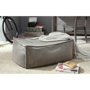 Contemporary Upholstered Ottoman with Memory Foam