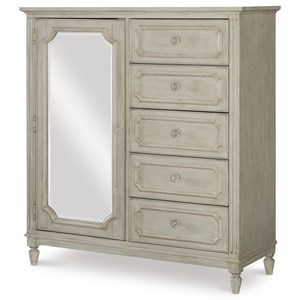 5 Drawer Wardrobe with Mirror Door