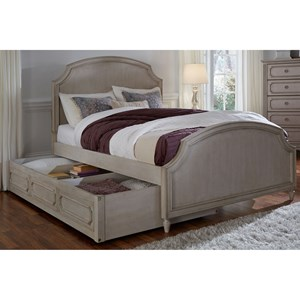Twin Panel Bed with Storage Trundle