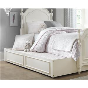 Summerset Low Poster Twin Bed with Turned Feet and Trundle