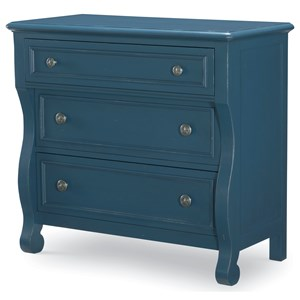 Transitional 3 Drawer Accent Chest