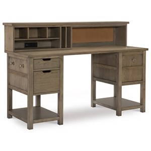 Jr. Executive Hutch Desk with USB Ports and Corkboard