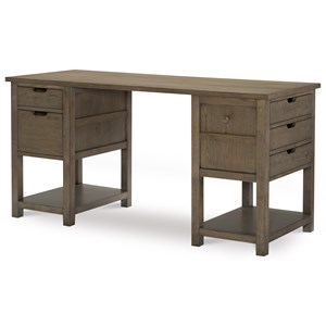 Jr. Executive Desk with Hidden Compartment and Wood Knob Hanger