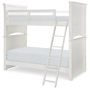 Twin Over Twin Panel Bunk Bed