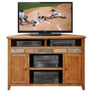 """Legends Furniture Oak Creek 56"""" Corner TV Cart"""