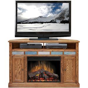 "Legends Furniture Oak Creek 56"" Corner Fireplace Media Center"