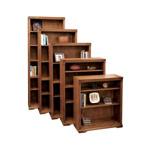 Legends Furniture Scottsdale Bookcase with 1 Fixed & 4 adj. Shelves