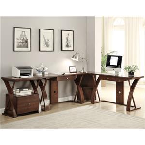 Vendor 1356 Super Z L-Shaped Desk Station