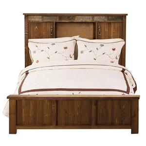 Legends Furniture Westwood Queen Bookcase Bed with Low-ProfileFootboard
