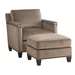 Lexington Carrera Stationary Chair and Ottoman Set