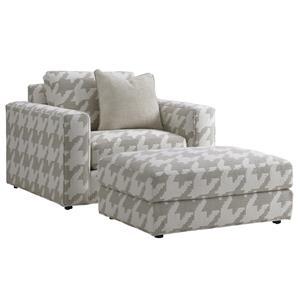 Lexington LAUREL CANYON Bellevue Chair and Ottoman Set