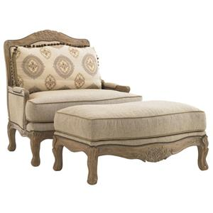 Lexington Lexington Upholstery Beauvais Chair & Ottoman