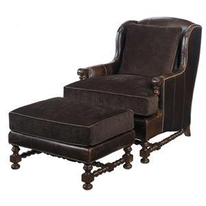 Lexington Lexington Leather Bradbury Chair and Ottoman