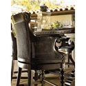 Tommy Bahama Home Kingstown Dunkirk Swivel Counter Stool with Arms