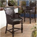 Tommy Bahama Home Kingstown Dunkirk Swivel Bar Stool with Arms - Shown with Dunkirk Swivel Counter Stool