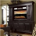 Tommy Bahama Home Kingstown Wellington Entertainment Console with Interchangeable Doors