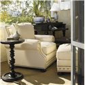 Tommy Bahama Home Kingstown Osbourne Ottoman with Nail Head Trim - Shown with Osbourne Chair