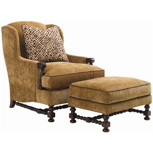 Lexington Fieldale Lodge Bradbury Wing Chair & Ottoman