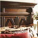 Lexington Fieldale Lodge Queen-Size Pine Lakes Bed Detailed with Molding Patterns & Nailhead Trim - Headboard Detail