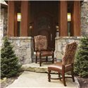 Lexington Fieldale Lodge Aspen Upholstered Dining Arm Chair - Shown with Aspen Side Chair