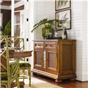 Tommy Bahama Home Island Estate Antigua Server with Woven Cane Panels