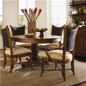 Tommy Bahama Home Island Estate 5 Piece Cayman Kitchen Table Dining Set