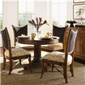 Tommy Bahama Home Island Estate 5 Piece Dining Cayman Table & Mangrove Side Chairs Set
